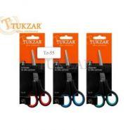 Ножницы 140 мм пластиковые ручки, резиновые вставки TZ55 Tukzar {Китай}