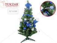 Eлка декоративная, цвет украшений: синие, высота 75см   10544