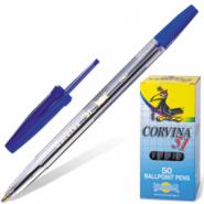 Ручка шариковая Corvina 51 корпус прозрачный 40163/02 TRASP, синяя (12679)