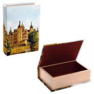 Шкатулка Книга 393592 с код.замком (шелк), L 22 W 16 H 7 см дерево, текстильные материалы