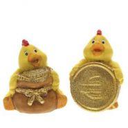 Фигурка декоративная цыпленок,5,6х4,8х6,3 см, 2 в.   236797