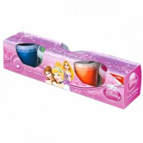 Тесто для лепки Lori Пластишка Принцессы Disney 4 цвета Тдд-001  (09600)